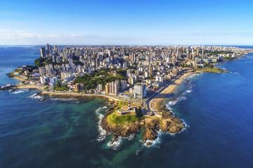 Poster Brésil Aerial view of Salvador da Bahia cityscape, Bahia, Brazil.