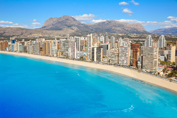 Wall Mural - benidorm levante beach aerial view