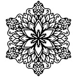 Outline Mandala For Coloring Book Decorative Round