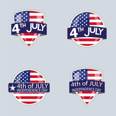 Wall Mural - Independence day set