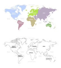 World map continents vector of world map with continents section category gumiabroncs Image collections