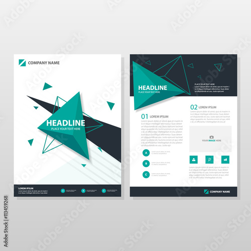 Green triangle vector business proposal leaflet brochure flyer green triangle vector business proposal leaflet brochure flyer template design book cover layout design flashek Gallery