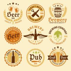 Colored Beer Emblem Set