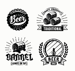 vector beer badges