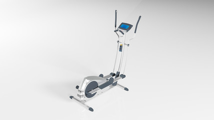 Gym stepper, workout step machine, sports equipment isolated on white background