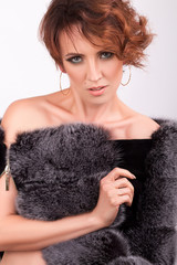 Portrait of a Girl in furs
