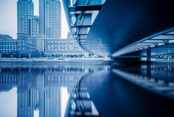 base bridge.urban bridge,tianjin china.