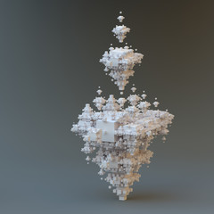 Abstract fractal tower.