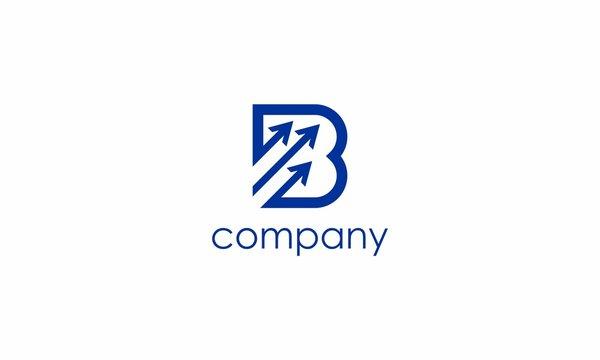 B and arrow logo by OriQ
