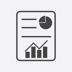 Fototapeta Business report. Flat vector illustration