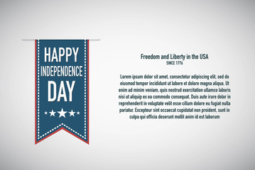 Happy independence Day banner for the Holliday