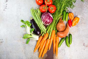 Gemüse frisch von der Ernte