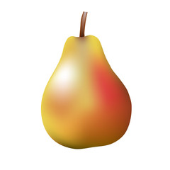 Vector illustration of a pear on a white background