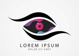 Eye symbol. Modern colorful design. Vector