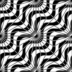Black and white alternating diagonal waves with rays
