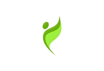 vegetarian abstract logo