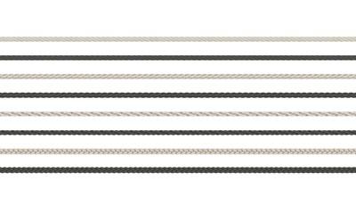 Rope braided set. Isolated on white background.