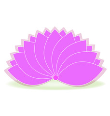 Lotus symbol pink flower logo art vector
