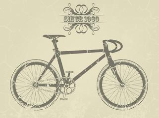 Illustration of a vintage sport bike
