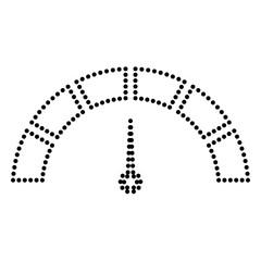Speedometer sign illustration