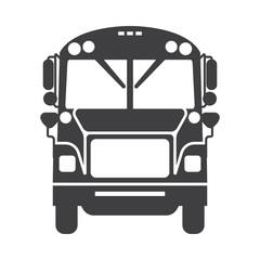 School Bus Icon Vector.
