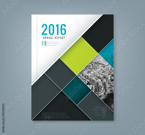 Annual Report Book Cover Design ~ Quot abstract geometric square shape design template for