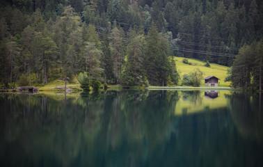Unique lake Fernsteinsee in Austria