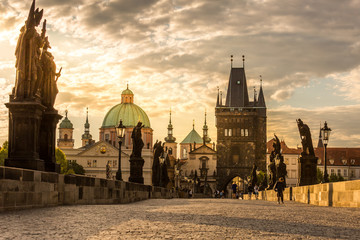 Wall Murals Prague Prague Charles bridge sunrise