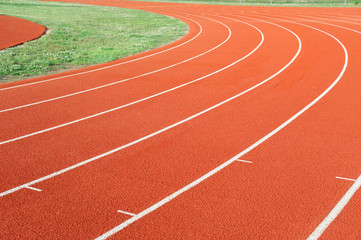 running track in sport field