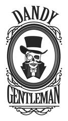 skull gentleman in the cylinder