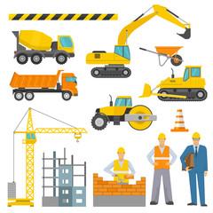 Construction Decorative Icons Set