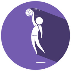 Sport logo design for volleyball