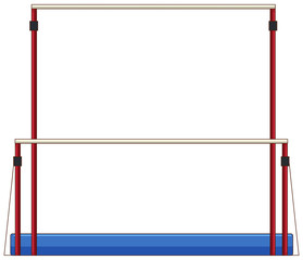 Gymnastics equipment uneven bars