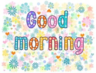 good morning. Stock vector