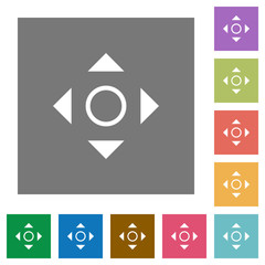 Scroll square flat icons
