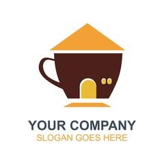 Coffee Cafe Icon Logo Vector