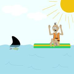 Shark attack illustration