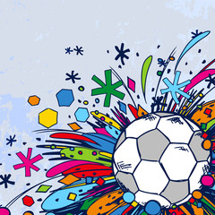 Football doodle ornament soccer background light blue