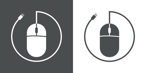 Icono plano raton de ordenador