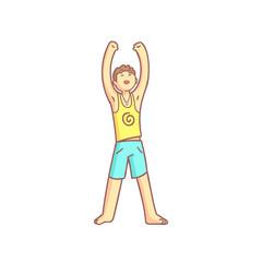 Man Doing Sun Salutation Yoga Asana