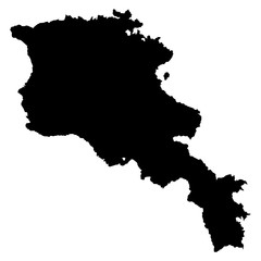 Armenia black map on white background vector