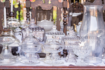 Vintage antique white glassware