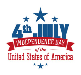 American independence day design. Fourth of July patriotic banner