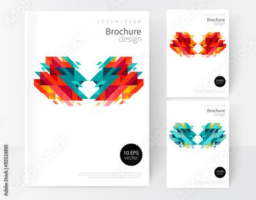 Minimalistic White cover Brochure design Flyer booklet annual