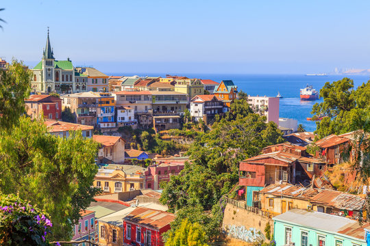 Valparaiso Chili ville couleurs