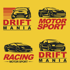 sportcar set retro