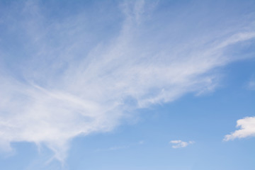 bright sky with white cloud background