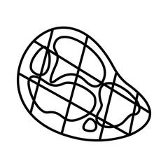 Steak Icon, outline style