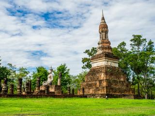 Wat Traphang Ngoen, an ancient temple in Sukhothai Historical Park, Sukhothai, Thailand.