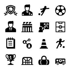 Football, Soccer club icon set Vector illustration